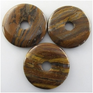 1 Tiger Iron donut pendant gemstone bead (N) Approximate size 50mm 10mm hole