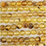 Baltic Amber Yellow Hand Cut 4mm Round Gemstone Beads (N) Approximate size 4.3 to 5mm 16 inches