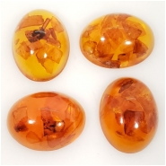 1 Amber Baltic and Resin Gemstone Cabochon (M) Approximate size 14.75 x 19.25mm