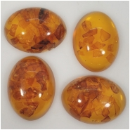 1 Amber Baltic and Resin Gemstone Cabochon (M) Approximate size 21.25 x 28.5mm