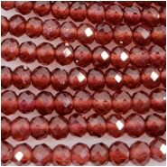 Garnet Pyrope 3mm Faceted Round Gemstone Beads (D) Approximate size 2.36 to 2.56mm 13 inches