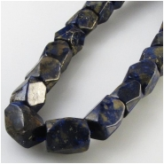 Lapis faceted rectangle gemstone beads (N) Approximate size 9 x 12mm 16 inch