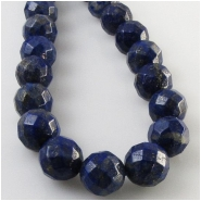 Lapis faceted round gemstone beads (N) Approximate size 9mm 9.5 to 9.8mm diameter 15.5 inch