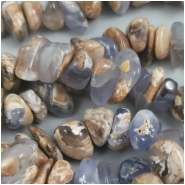 Chalcedony Blue Marbled Nugget Chip Gemstone Beads (N) Approximate Size 9 to 17mm, 16.5 inches