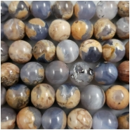 Chalcedony Blue Marbled Round Gemstone Beads (N) Approximate Size 12.45mm, 8 inches