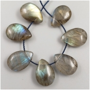 1 Labradorite Top Drilled Drop Gemstone Bead (N) Approximate size 12.32 to 12.88mm long