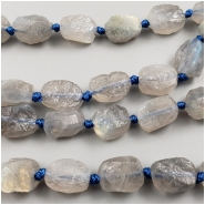 Labradorite Rough Nuggets Gemstone Bead (N) Approximate size 9.5 to 11.1mm long, 7.4 to 8.4mm wide, 8 inches