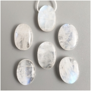 1 Rainbow Moonstone Top Drill Freeforem Oval Gemstone Bead (N) Approximate size 8.63 to 10.66mm wide, 11.6 to 14mm long
