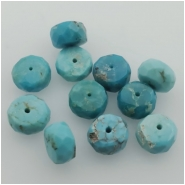 3 Turquoise Sleeping Beauty Faceted Rondelle Gemstone Bead (S) Approximate size 3.01 to 3.47mm x 5.45 to 5.91mm