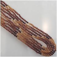 Hessonite Garnet Round Gemstone Beads (N) Approximate size 2.88 to 3.51mm 14 to 14.5 inches
