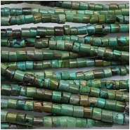 Hubei Turquoise Heishi Style Gemstone Beads (S) Approximate size 2.5 to 3mm 15.5 to 15.75 inches