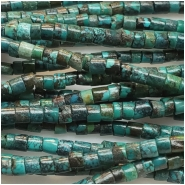 Hubei Turquoise Heishi Style Gemstone Beads (S) Approximate size 2 to 3mm 15.5 to 15.75 inches