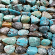 Turquoise Tumbeled Nugget Mix Gemstone Beads (S) Approximate size 12 x 14.5mm to 20.15 x 28.7mm 16 inches