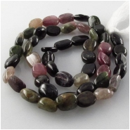 Tourmaline B oval gemstone beads (N) Approximate size 5 x 6mm to 5.5 x 8.5mm 13.5 inch