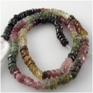 Tourmaline B faceted rondelle gemstone beads (N) Approximate size 3.5mm 12 inch