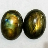 1 Labradorite AA oval gemstone cabochon gemstone (N) Approximate size 22 x 30mm