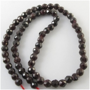 Garnet faceted round roundel gemstone beads (N) Approximate size 6.4 to 7.4mm 16 to 17 inch