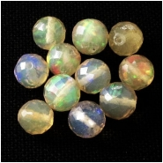 1 Ethiopian Opal faceted round gemstone bead (N) Approximate size 4.4 to 4.9mm diameter