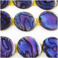 5 Abalone shell round cabochons loose cut (D) Approximate size 12.5mm diameter