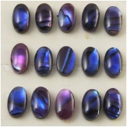 10 Abalone shell oval cabochons loose cut (D) Approximate size 3 x 5mm