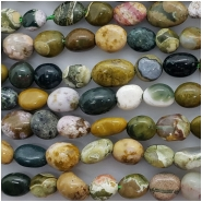 Ocean Jasper Pebble Gemstone Beads (N) Approximate size 5.7 x 5.68mm to 7.12 x 10.1mm 15.5 to 15.75 inches