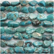 Turquoise Hubei Nugget Gemstone Beads (S) Approximate size 7.9 x 8.2mm to 17.3 x 18.6mm 15.75 to 16 inches