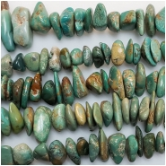 Turquoise Ma'anshan Large Chips Gemstone Beads (S) Approximate size 8.2 x 8.5mm to 11.5 x 17.7mm 16.25 to 16.5 inches