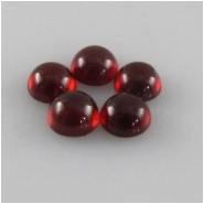 5 Garnet round cabochon loose cut gemstone (N) 5mm