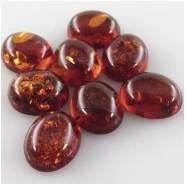 4 Amber Baltic oval loose cut cabochon gemstones (N,H) Approximate size 8.9 x 10.9mm to 9 x 11.1mm (9 x 11mm)
