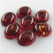 4 Amber Baltic oval loose cut cabochon gemstones (N,H) Approximate size 8.9 x 10.9mm to 9.1 x 11.1mm (9 x 11mm)