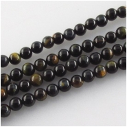Blue Tiger Eye round gemstone beads (N) Approximate size 4mm 15.5 inch