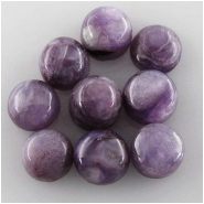 4 Charoite AA round loose cut cabochon gemstones (N) Approximate size 4.9 to 5.1mm (5mm)