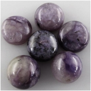5 Charoite round loose cut cabochon gemstones (N) Approximate size 7.7 to 8mm (8mm)