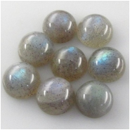 2 Labradorite round cabochon loose cut gemstones (N) Approximate size 10mm 5.5mm deep