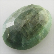 1 Emerald faceted oval loose cut gemstone (O) Approximate size 15.7 x 20.8 x 7.7mm deep