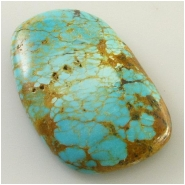 1 Turquoise Kingman cabochon gemstone (S) Approximate size 20.5 x 32.1 x 6.2mm deep