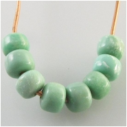 10 Variscite drum gemstone beads (S) Approximate size 4 x 5mm diameter