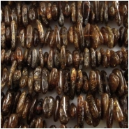 Amber dark nugget gemstone beads (N) Approximately 7 x 11mm up to 10 x 16mm 15.2 inch Size varies on each strand