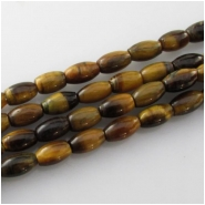 Tiger Eye puff rice gemstone beads (N) Approximate size 4 x 7mm 15.7 inch