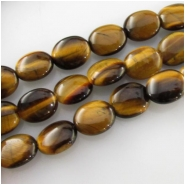 Tiger Eye puff oval gemstone beads (N) Approximate size 8 x 10mm 15.7 inch