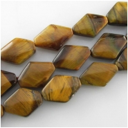 Tiger Eye kite gemstone beads (N) Approximate size 10 x 14mm 15.5 inch