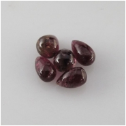 1 Tourmaline tear drop briolette gemstone bead (N) Approximate size range 4 x 7.1mm to 5.5 x 8mm