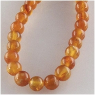 Amber round gemstone beads (N) Approximate size 4mm 3.7 to 4mm 16 inch
