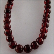 Amber red round gemstone beads (N) Approximate size 4mm 3.6 to 4.1mm 16 inch