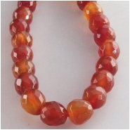 Carnelian faceted round gemstone beads (N) Approximate size 6mm 15.5 inch