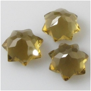 1 Cognac Quartz faceted star briolette gemstone bead (N) Approximate size 10mm