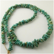 Turquoise Fox graduated nugget gemstone beads (N) Approixmate size 3.5 x 5.2mm to 6 x 12mm 24 inch