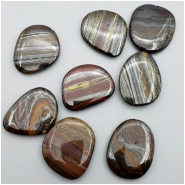1 Tiger Iron Pendant Gemstone Bead (N) Approximate size 36.10 to 39.64mm x 28.90 to 33.79mm