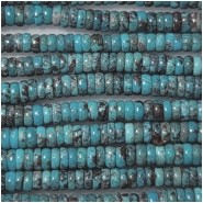 Turquoise Hubei Rondelle Gemstone Beads (S) Approximate Size 5.1 to 5.3mm 15.75 to 16 inches