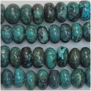 Turquoise Hubei Rondelle Gemstone Beads (S) Approximate Size 10.5 to 11.7mm 16 inches